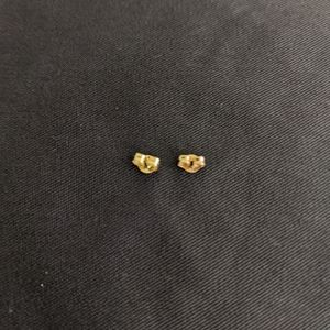 14k gold small earring backs